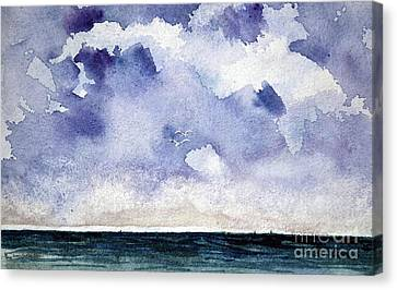 Cloud Regatta Canvas Print by Joan Hartenstein