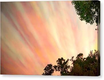 Canvas Print featuring the photograph Cloud Streams by Charlotte Schafer