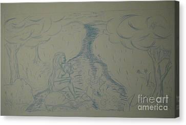 Cloud Tree Pond Canvas Print by James Eye