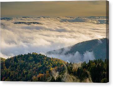 Cloud Valley Canvas Print by Serge Skiba