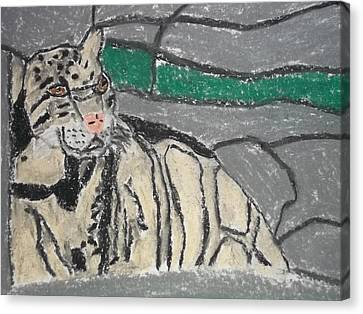 Clouded Leopard Pastel On Paper Canvas Print by William Sahir House
