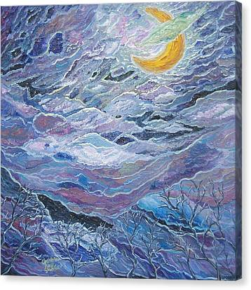 Clouded Moon Canvas Print by Chris RoseS