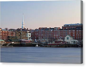 Cloudless Portsmouth Skyline Canvas Print