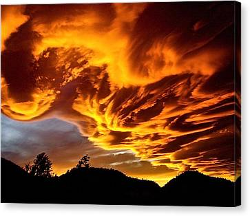 Canvas Print featuring the photograph Clouds 2 by Pamela Cooper