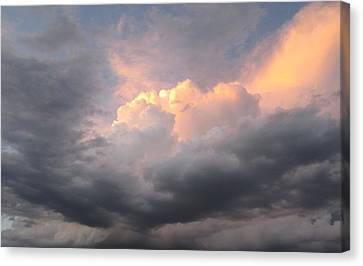 Clouds And God Canvas Print by Cathy Long