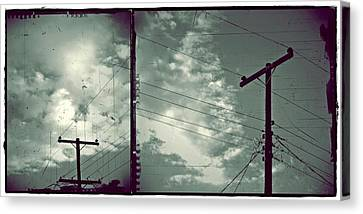 Clouds And Power Lines Canvas Print