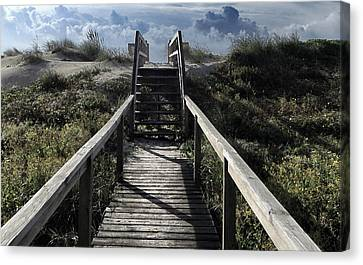 Clouds And Sand Dunes Canvas Print by Patricia Januszkiewicz