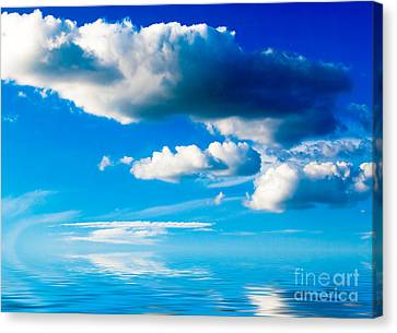 Clouds And Sea Canvas Print by Boon Mee