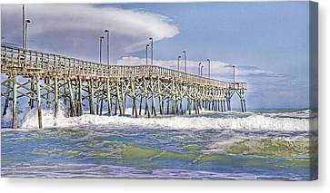 Clouds And Waves Canvas Print by Betsy Knapp