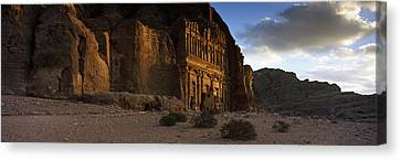 Clouds Beyond The Palace Tomb, Wadi Canvas Print by Panoramic Images