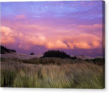 Clouds Catch Light From The Setting Sun Canvas Print by Robert L. Potts
