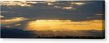 Clouds In The Sky, Daniels Park Canvas Print by Panoramic Images