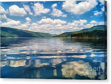 Clouds In The Water Canvas Print by Stela Taneva