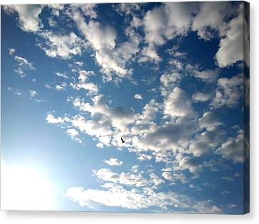 Canvas Print featuring the photograph Clouds by Lucy D
