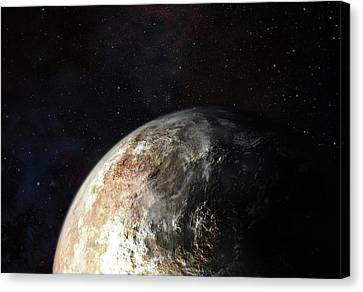 Clouds On Pluto Canvas Print by Nasa-jhuapl