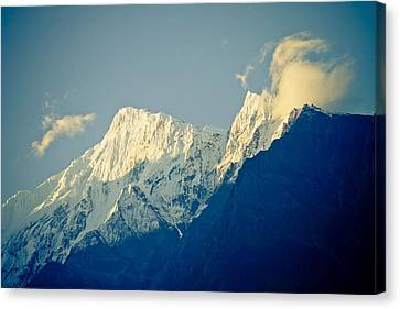 Clouds On The Peak Himalayan Canvas Print