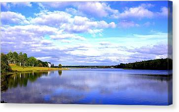 Clouds On Water Canvas Print