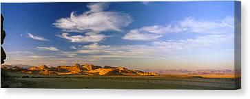 Clouds Over A Desert, Jordan Canvas Print