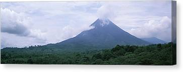 Clouds Over A Mountain Peak, Arenal Canvas Print by Panoramic Images