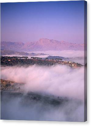 Clouds Over A Valley, Guadalevin Canvas Print