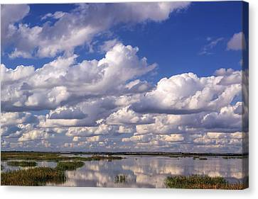 Clouds Over Cheyenne Bottoms Canvas Print