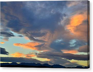 Clouds Over Colorado Canvas Print by Ray Mathis