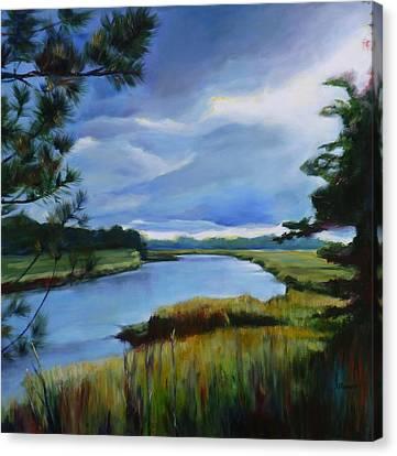 Clouds Over Conestogo River Canvas Print