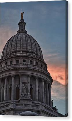 Clouds Over Democracy Canvas Print by Sebastian Musial