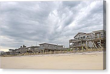 Clouds Over Fire Island Canvas Print by Alida Thorpe