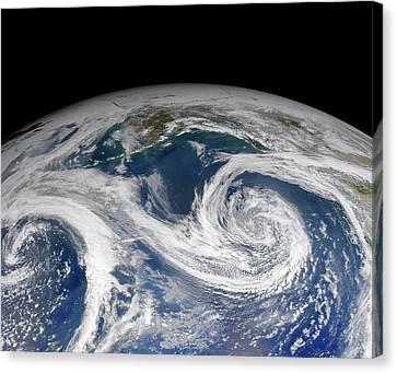 Clouds Over Gulf Of Alaska Canvas Print