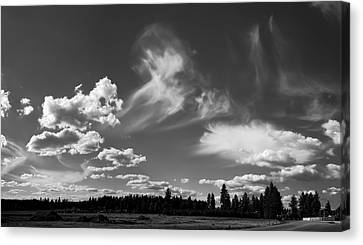 Clouds Over Hatch Rd Canvas Print by Daniel Hagerman