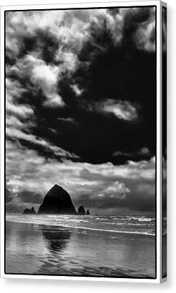 Clouds Over Haystack Rock On Cannon Beach Canvas Print by David Patterson
