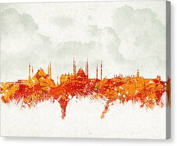 Clouds Over Istanbul Turkey Canvas Print by Aged Pixel