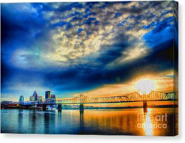 Indiana Landscapes Canvas Print - Clouds Over Louisville by Darren Fisher