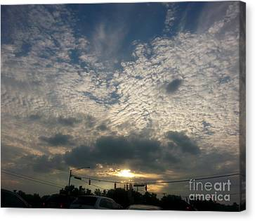 Canvas Print featuring the photograph Clouds Over Maryland by Emmy Marie Vickers