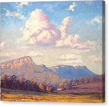 Clouds Over Megalong Canvas Print