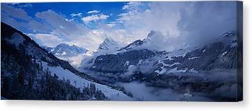 Clouds Over Mountains, Alps, Glarus Canvas Print by Panoramic Images