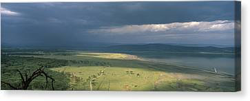 Clouds Over Mountains, Lake Nakuru Canvas Print by Panoramic Images