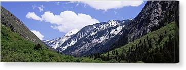 Clouds Over Mountains, Little Canvas Print by Panoramic Images