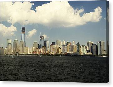 Clouds Over New York Skyline Canvas Print