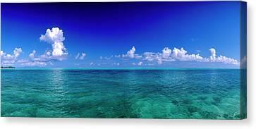 Clouds Over Pacific Ocean, Bora Bora Canvas Print