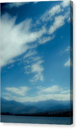 Clouds Over Priest Lake Canvas Print by David Patterson