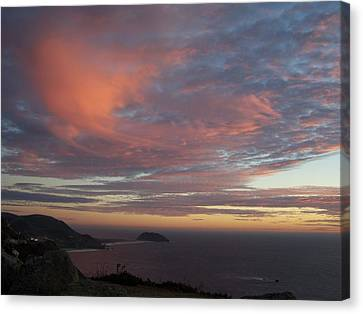 Clouds Over Pt Sur Canvas Print