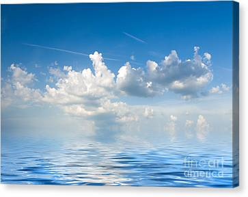 Clouds Over Sea Canvas Print by Boon Mee