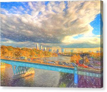 Clouds Over The City Canvas Print by Alice Gipson