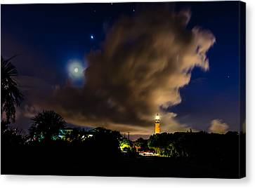 Clouds Over The Lighthouse Canvas Print