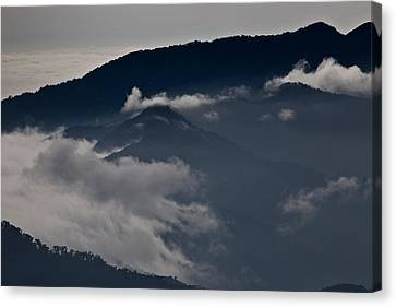 Clouds Over The Mounatins Canvas Print