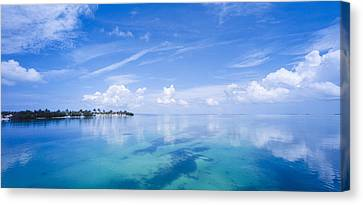 Florida Images Canvas Print - Clouds Over The Ocean, Florida Keys by Panoramic Images