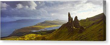 Clouds Over The Old Man Of Storr Canvas Print by Panoramic Images