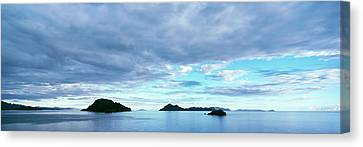 Clouds Over The Sea Near Villa Del Canvas Print by Panoramic Images